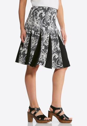 Pleated Floral Puff Print Skirt | Tuggl