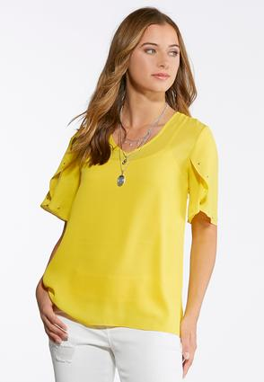 Studded Tulip Sleeve Top | Tuggl