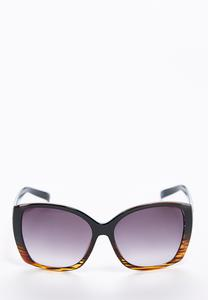 Ombre Frame Square Sunglasses