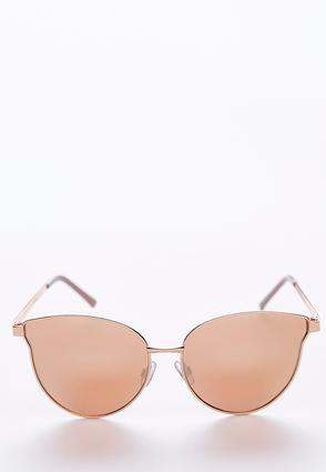 Rose Gold Metal Cateye Sunglasses | Tuggl