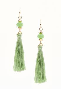 Semi-Precious Tassel Earrings