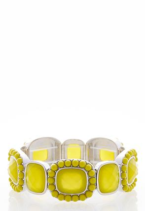Beaded Rectangle Stretch Bracelet | Tuggl