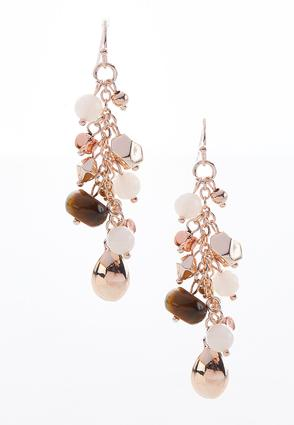 Mixed Bead Dangle Earrings | Tuggl