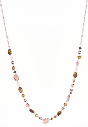 Blush Earth Beaded Necklace | Tuggl