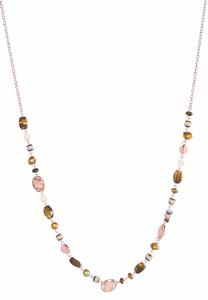 Blush Earth Beaded Necklace