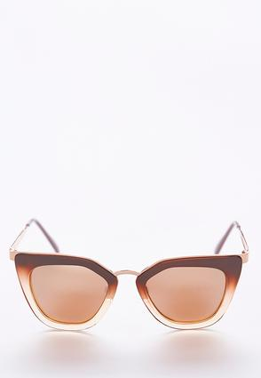 Nude Rose Gold Cateye Sunglasses | Tuggl