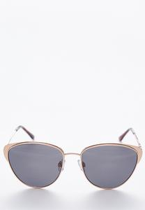 Rose Gold Cateyed Aviator Sunglasses