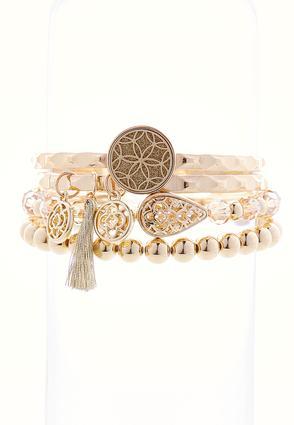 Gold Burst Multi Bracelet Set | Tuggl