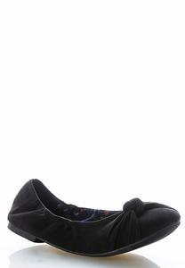 Pleated Knot Scrunch Flats