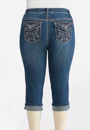 Plus Size Embellished Back Pocket Jeans | Tuggl