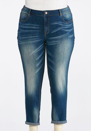 Plus Size Authentic Girlfriend Ankle Jeans | Tuggl