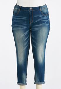 Plus Size Authentic Girlfriend Ankle Jeans