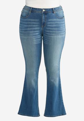 Plus Size Shape Enhancing Bootcut Jeans   Tuggl