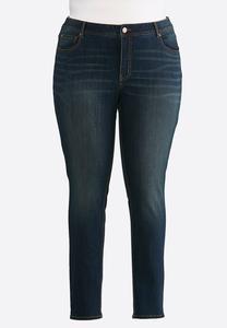 Plus Size Curvy Rinse Wash Skinny Jeans
