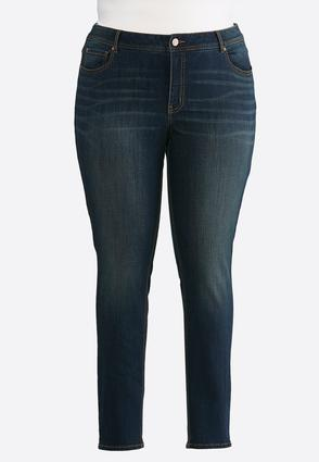 Plus Size Rinse Wash Skinny Jeans