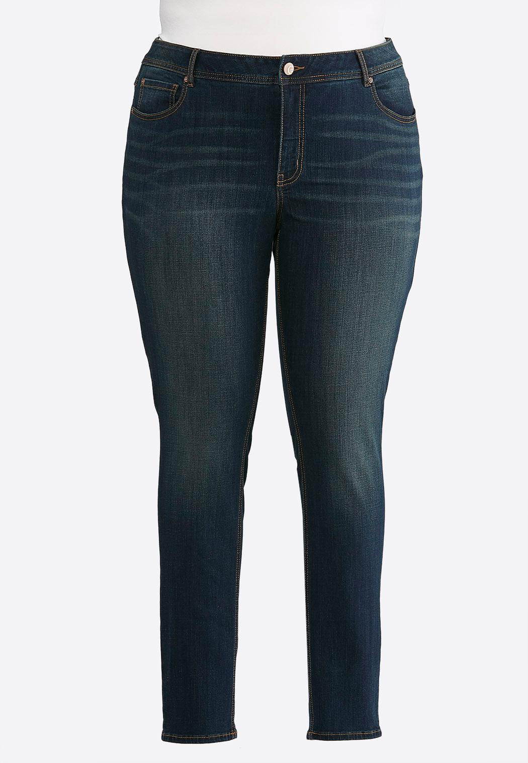 Plus Petite Curvy Rinse Wash Skinny Jeans
