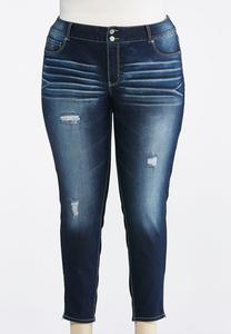 Plus Size Zip Hem Jeggings