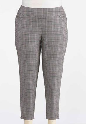 Plus Size Westminster Plaid Bengaline Pants | Tuggl