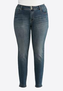 Plus Size Lightly Distressed Skinny Jeans