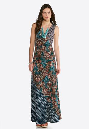 Pop Of Paisley Maxi Dress | Tuggl
