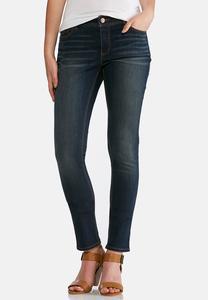 Petite Rinse Wash Skinny Jeans