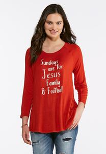 Jesus And Football Top