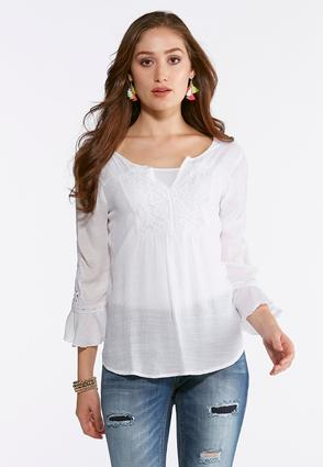 Lace Bell Sleeve Poet Top