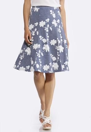 Floral Puff Print Skirt | Tuggl