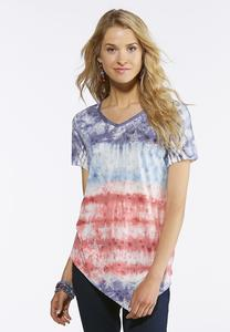 Embellished Stars And Stripes Tee