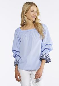 Plus Size Tiered Bubble Sleeve Top