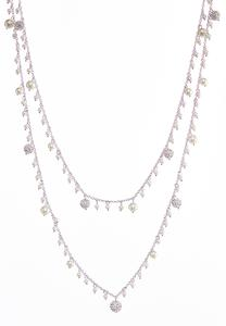 Pave Pearl Layered Necklace