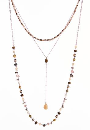 Layered Mixed Bead Y-Necklace | Tuggl