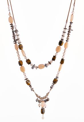Layered Mixed Bead Cord Necklace | Tuggl