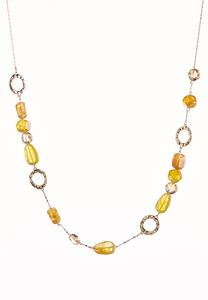 Golden Mixed Bead Necklace