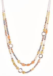 Soft Shade Layered Necklace