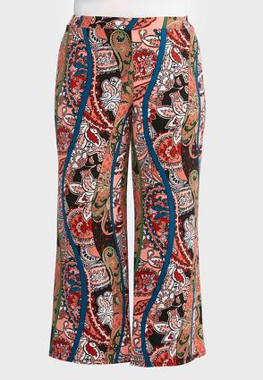 Plus Size Paisley Floral Palazzo Pants | Tuggl
