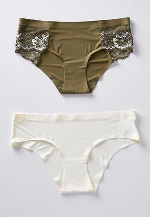 Green And Ivory Panty Set | Tuggl