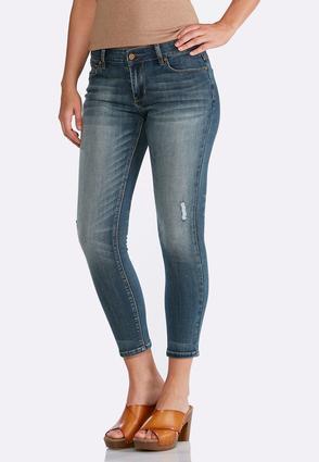 Medium Wash Skinny Ankle Jeans   Tuggl
