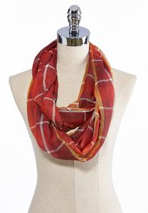 Summer Plaid Infinity Scarf