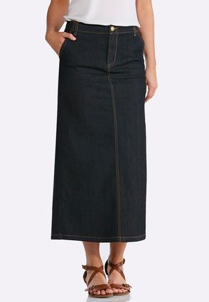 a94fa64dc1d Plus Size Rinse Wash Denim Skirt