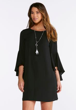 Split Bell Sleeve Shift Dress | Tuggl