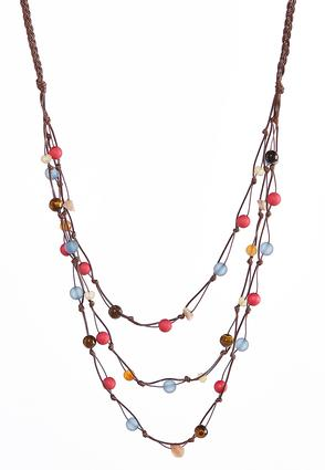 Braided Bead Cord Necklace