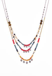 Multi Layered Bead Necklace