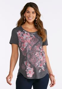 Floral Diamond Medallion Tee