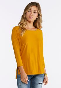 Plus Size Solid Dolman Tee