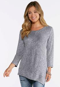 Asymmetrical Seamed Hacci Top