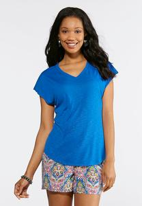 Plus Size Dolman V-Neck Tee