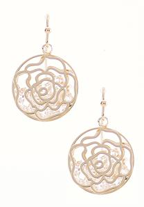 Caged Rose Gold Earrings