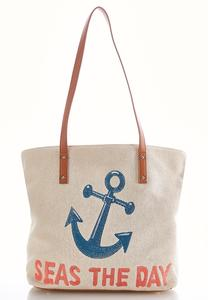 Seas The Day Woven Tote