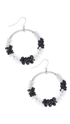 Beaded Dangle Hoops